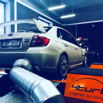 Borg Warner instalace turba s náporovým intercoolerem. Subaru Impreza WRX STI N14 sedan.