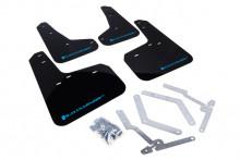 Černé zástěrky s modrým logem RallyArmor Focus 2013+
