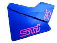 Modré zástěrky s růžovým logem STI Impreza WRX/STI 2015-2018