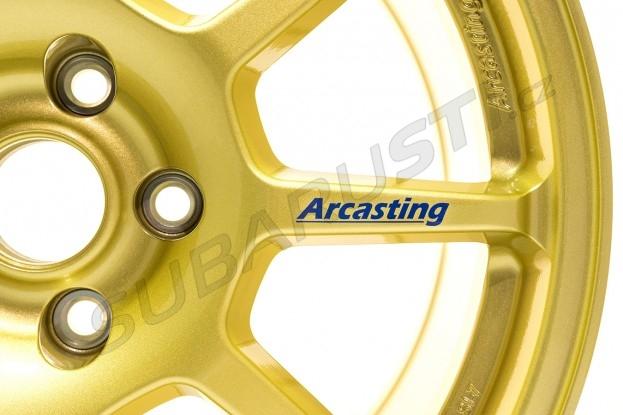Závodní kola Arcasting ZAR 8x18 5x114.3 ET46 56.1, zlatá Impreza STI 2006-2018, Levorg