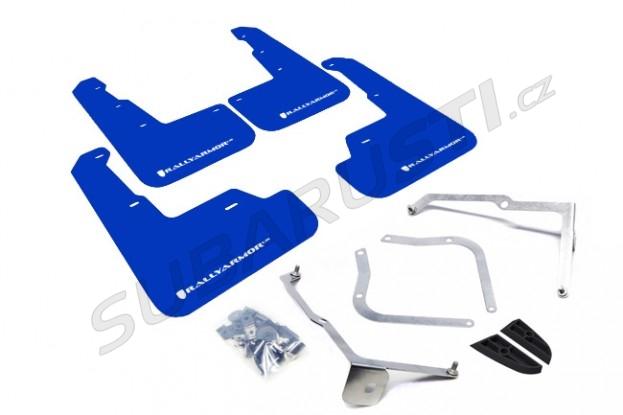 Modré zástěrky s bílým logem RallyArmor Impreza WRX/STI 2015-2018