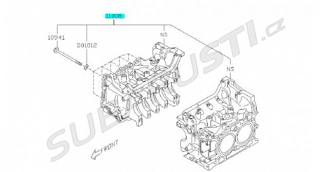 Blok motoru BRZ/GT86