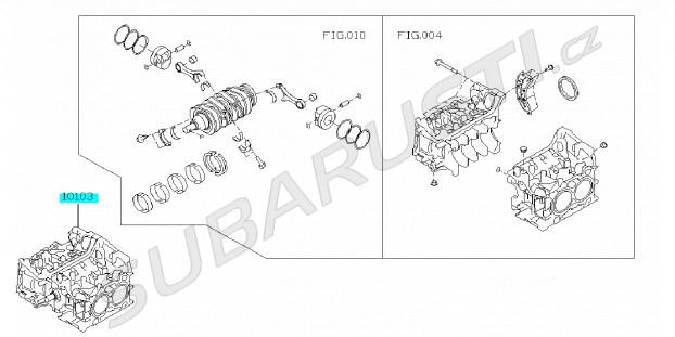 Short blok motoru - polomotor BRZ/GT86