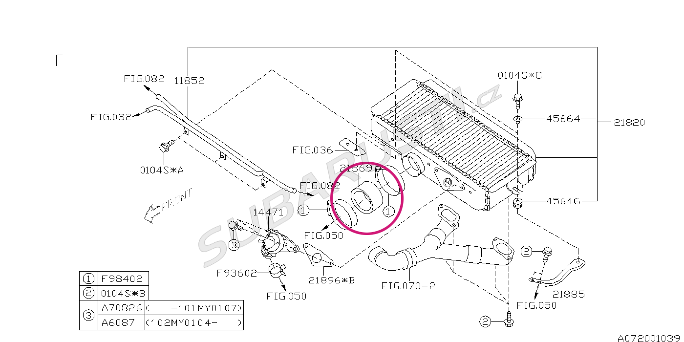 hadice intercooler    klapka