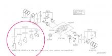 Kovaná kliková ložiska ACL EJ20/EJ25 STD - uložení na středu (22mm) - 1.výbrus 0.25mm