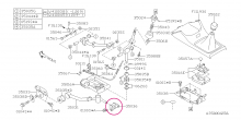 Pevný silentblok opory řazení STI Impreza GT/WRX/STI 1992-2018