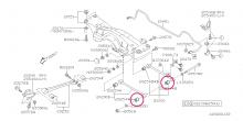 Silentblok zadního ramene – vnější část Impreza GT/WRX/STI 1995-2007