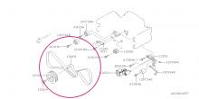 Rozvodový kevlarový řemen STI  Impreza GT/WRX/STI, Forester, Legacy/Outback