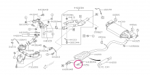 Pružiny pro pružné spojení výfuku Impreza GT/WRX