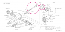 Set stáleho převodu 3.54 R180 Impreza STI  2006+ (N12/N14)