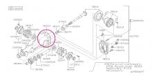 Těsnění zadního diferenciálu Impreza STI 2001-2018, Legacy 6MT