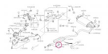 Šrouby pro pružné spojení výfuku Impreza GT/WRX/STI