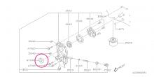 Přední gufero klikové hřídele Impreza, Forester, Legacy, 33x49x8