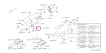 O kroužek do motoru (červený) Impreza GT/WRX/STI, Forester, Legacy/Outback