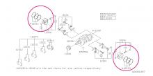 Kované písty RCM Omega 99.50 mm Impreza GT/WRX/STI, Forester