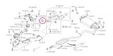 Těsnění mezi downpipe a katalyzátor Impreza GT/WRX/STI