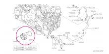 Vodní pumpa Subaru EE20 Boxer Diesel