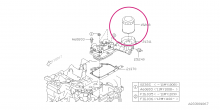 Olejový filtr Subaru EE20 Boxer Diesel