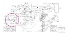 Sací hadice k turbu Impreza WRX/STI/Forester 2004-2007,