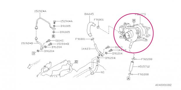 Twin scroll turbo IHI VF53 N14/N15